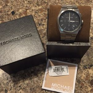 NWT Michael Kors SS Channing Chronograph Watch